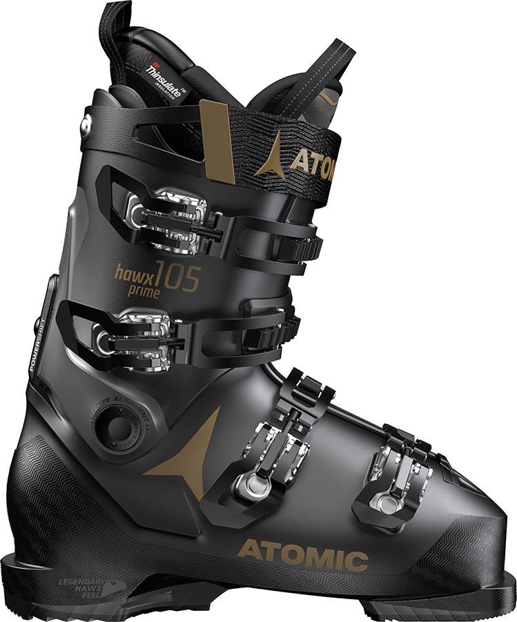 Atomic Hawx Prime 105 S W Women's Ski Boots, 26/26.5 Black/Grey 2020
