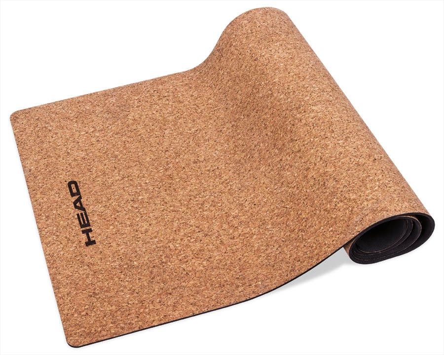 Head Natural Rubber and Cork Yoga Mat, 5mm Cork