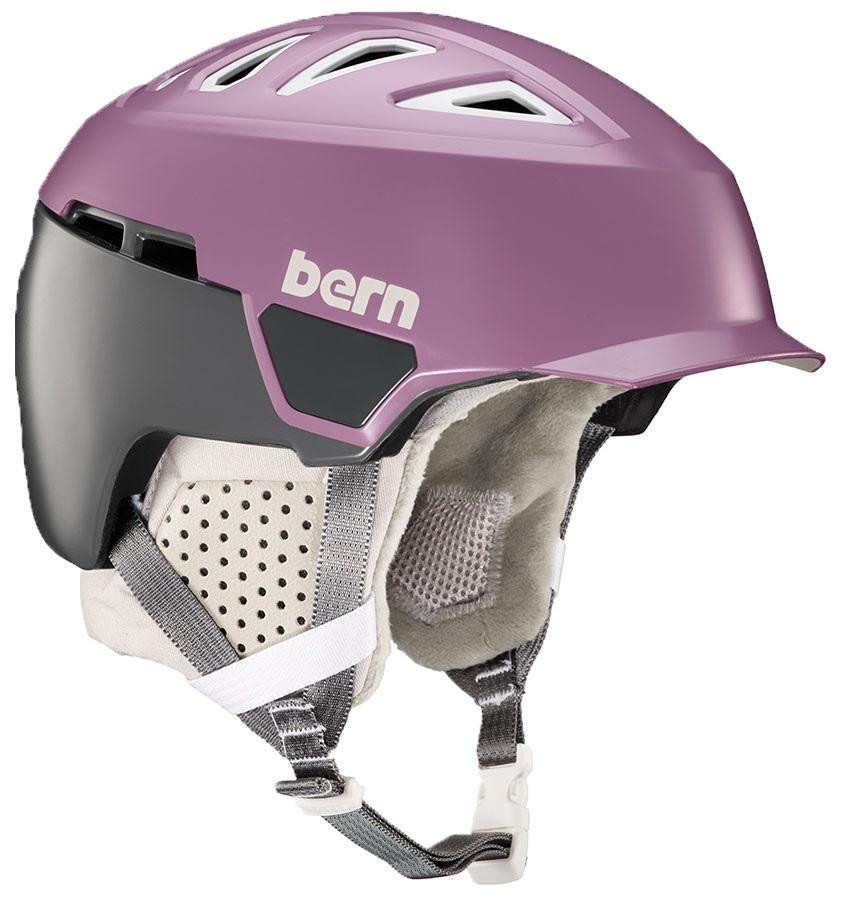 Bern Heist Brim MIPS Ski/Snowboard Helmet, S Satin Lilac