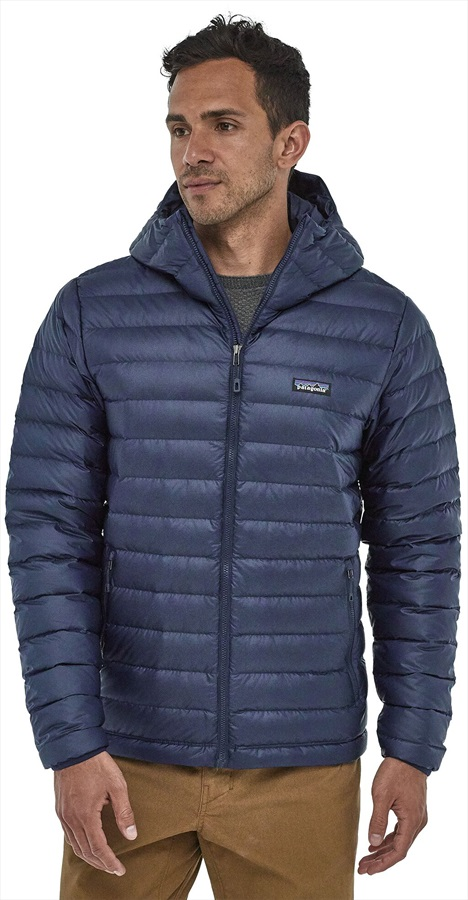 Patagonia Down Sweater Hoody Insulated Hooded Jacket, S Classic Navy