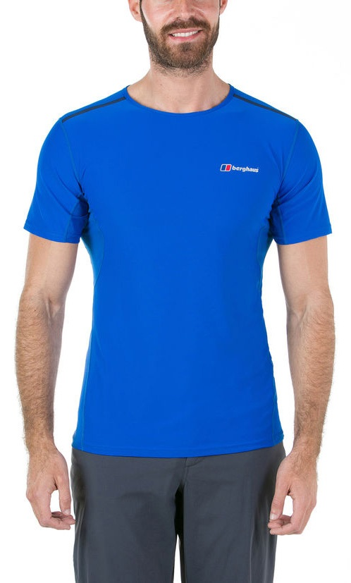 Berghaus Super Tech Short Sleeve Base Layer T-Shirt, S Lapis Blue
