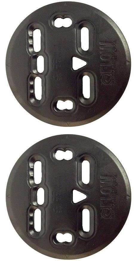 Flow NX2 Aluminium Replacement Snowboard Binding Discs, 10cm Black