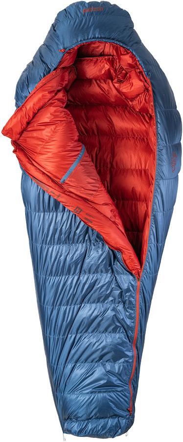 Patizon Dpro 590 Ultralight Down Sleeping Bag, M Navy LH Zip