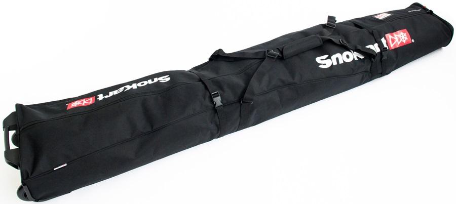 SnoKart 2 Ski Roller Zoom Double Ski Bag 205cm Black
