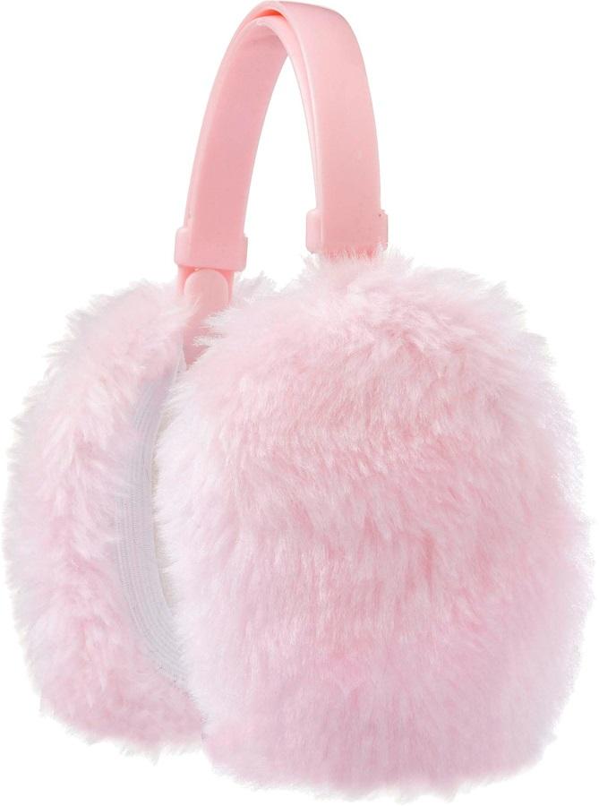 Manbi Faux Fur Sherpa Fleece Lined Ski/Snowboard Ear Muffs, OS Pink