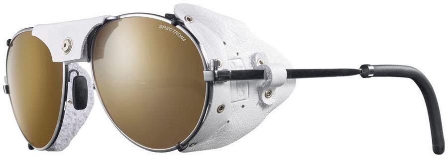 Julbo Cham SP4+ Mountaineering Sunglasses, Silver/White