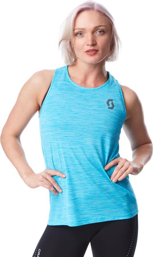 Scott Trail Run LT Women's Running Tank Top/Vest UK 10-12 Breeze Blue