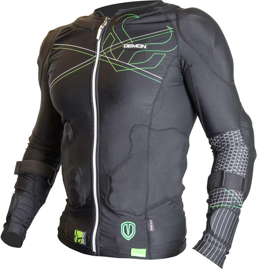 Demon Flex Force Pro Ski/Snowboard Body Armour Top, XL Black/Green
