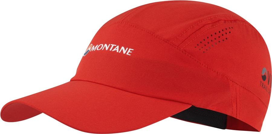 Montane Coda Trail Running Cap, Adjustable Flag Red