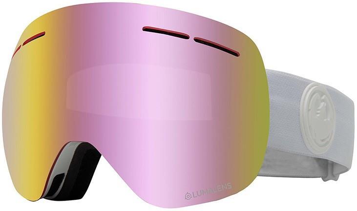 Dragon X1s LumaLens Pink Ion Snowboard/Ski Goggles, M Whiteout