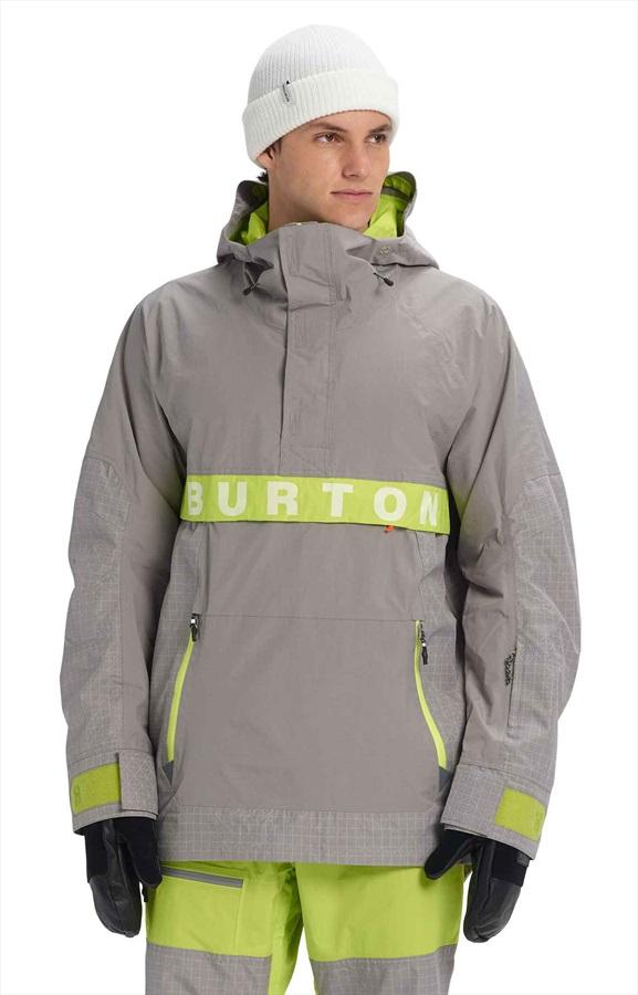 Burton Frostner Anorak Pull Over Ski/Snowboard Jacket, S Sterling