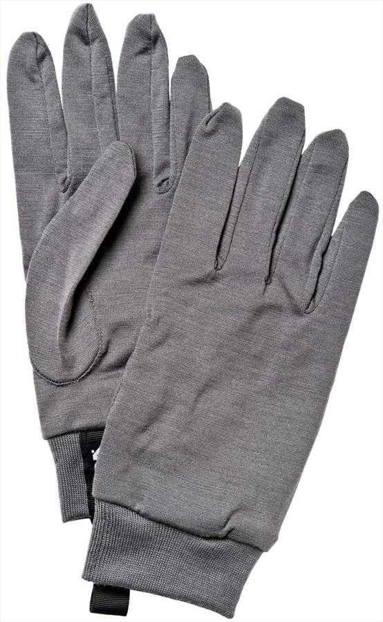 Hestra Merino Wool Ski/Snowboard Liner Gloves, L, Dark Grey
