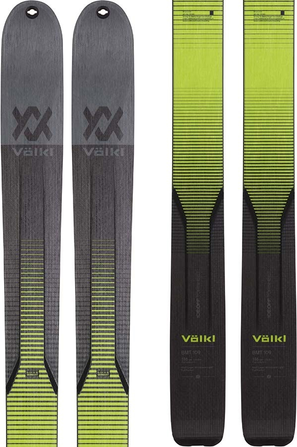 Volkl BMT 109 Ski Only Skis, 186cm Black/Green 2021