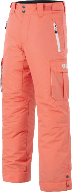 Picture August Age: 10/12 Kid's Ski/Snowboard Pants, M Coral