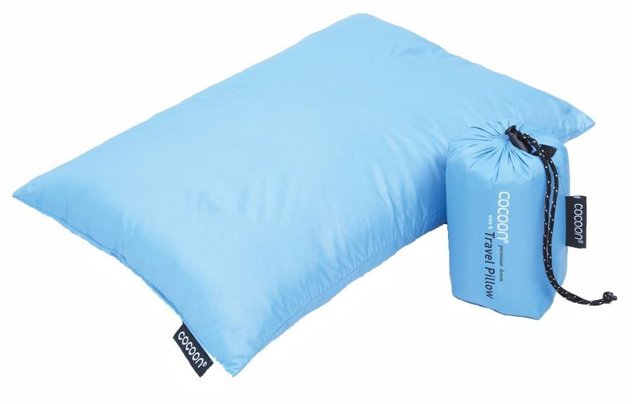 Cocoon Down Travel Pillow Compact Carry-On Pillow, S Light Blue
