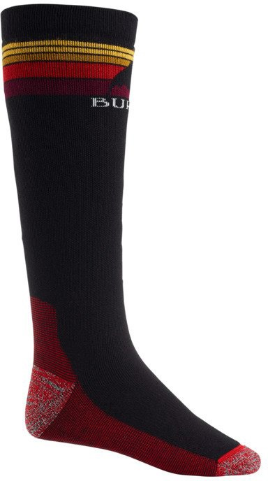 Burton Adult Unisex Emblem Midweight Ski/Snowboard Socks, L True Black