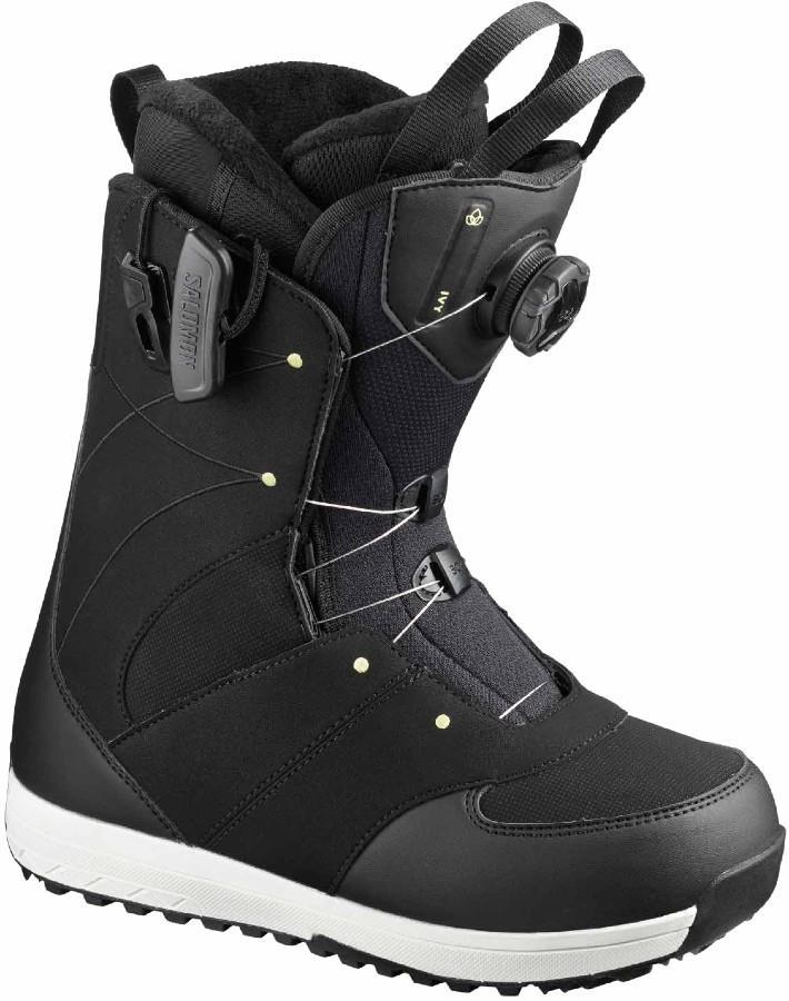 Salomon Ivy BOA SJ Women's Snowboard Boots, UK 4 Black/Pale Lime 2020