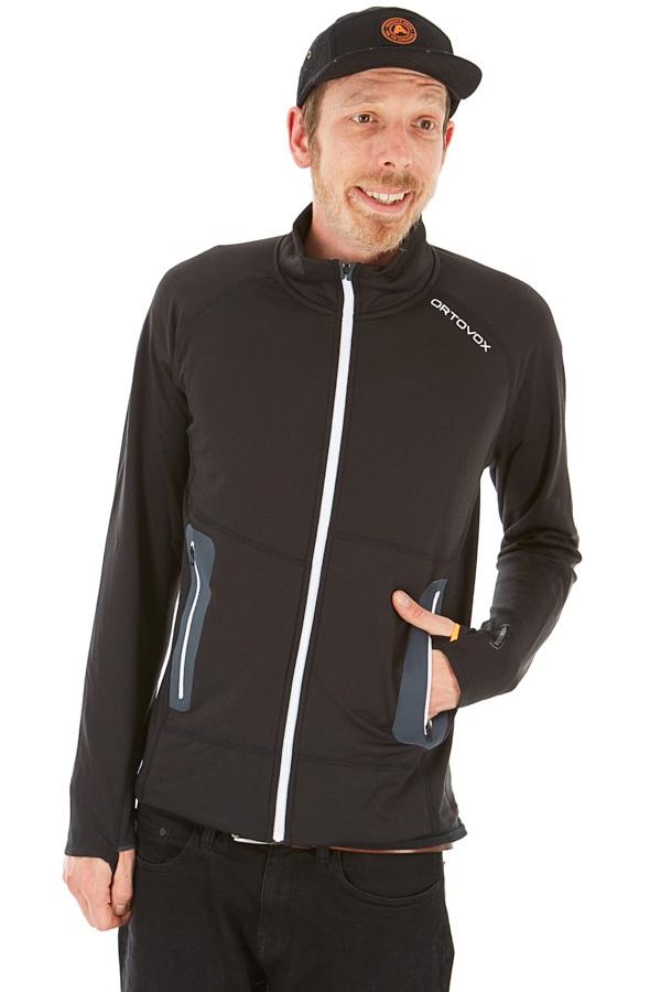 Ortovox Adult Unisex Fleece Light Full Zip Jacket, Xl Black Raven