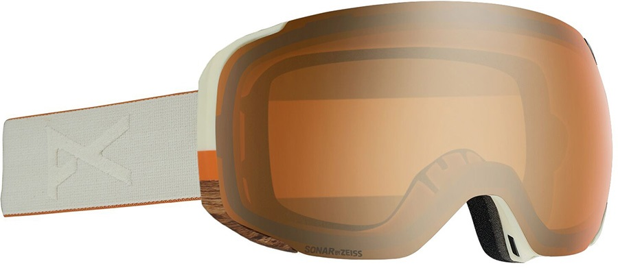 Anon M2 Sonar Bronze Ski/Snowboard Goggles, M/L MFI Woody