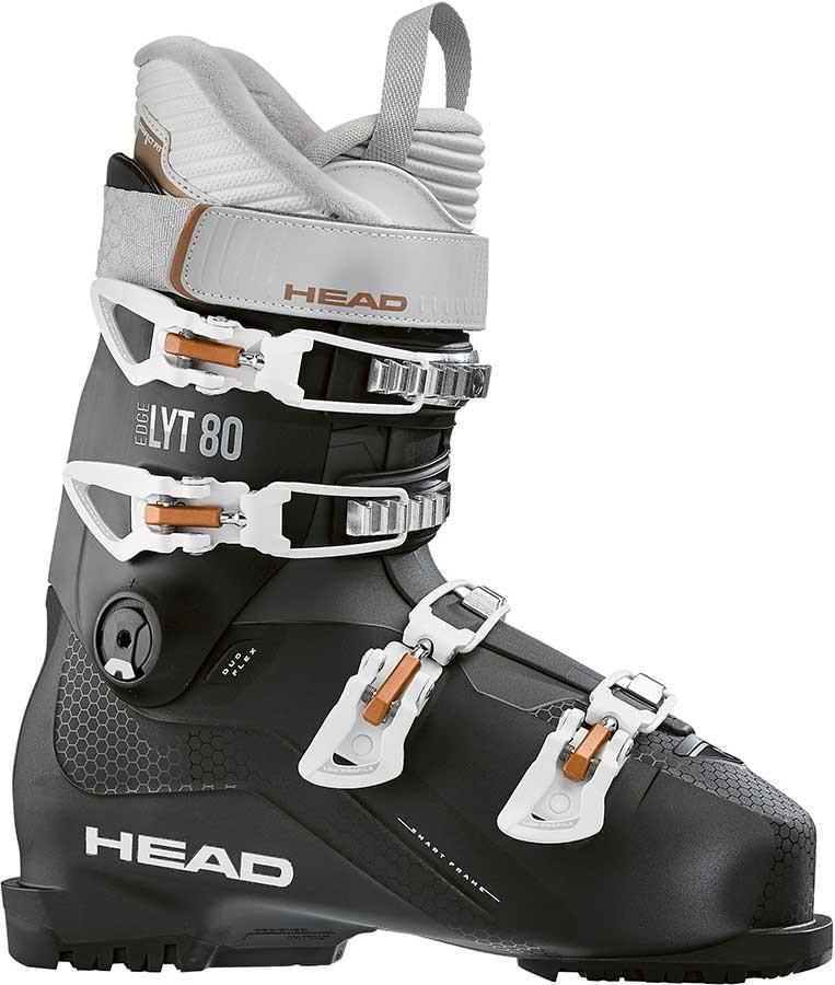Head Edge LYT 80 Women's Ski Boots, 22/22.5 Black/Copper