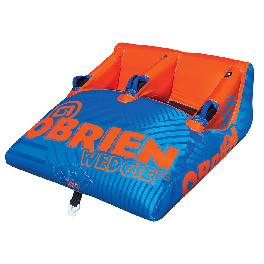O'Brien Wedgie Seated Towable Inflatable Tube, 2 Rider Blue Orang 2021