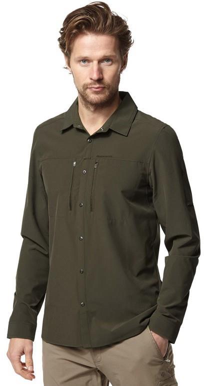 Craghoppers NosiLIfe Pro III Long Sleeve Shirt, M Dark Khaki