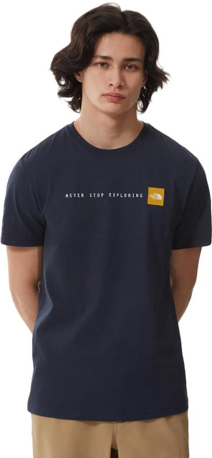 The North Face Never Stop Exploring Short Sleeve T-Shirt S Urban Navy