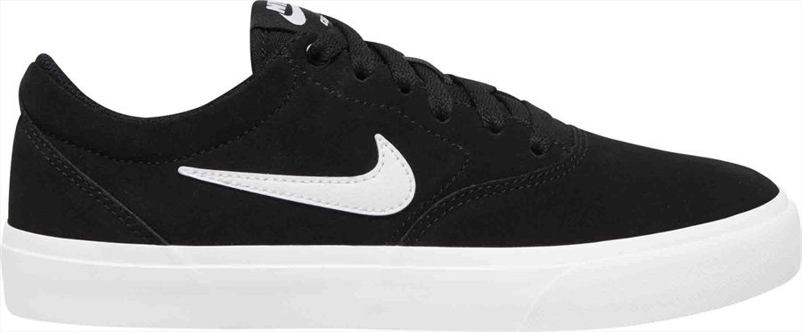 Nike SB Charge Suede Womens Skate Shoes UK 4 Black/White-Black
