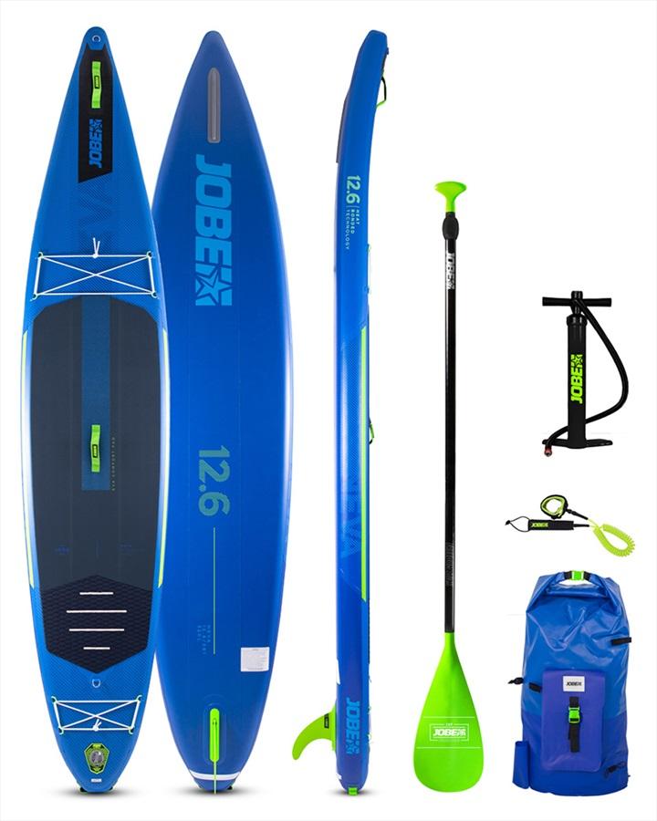 "Jobe Neva Touring ISUP Paddleboard Package, 12'6"" Blue 2021"