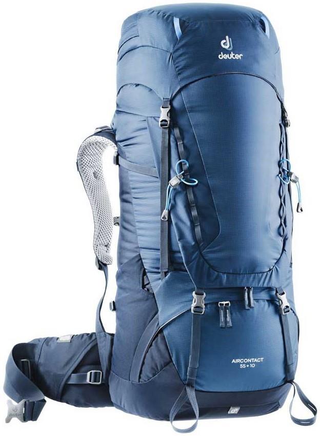 Deuter Aircontact 55 + 10 Trekking Backpack, 55L Midnight-Navy