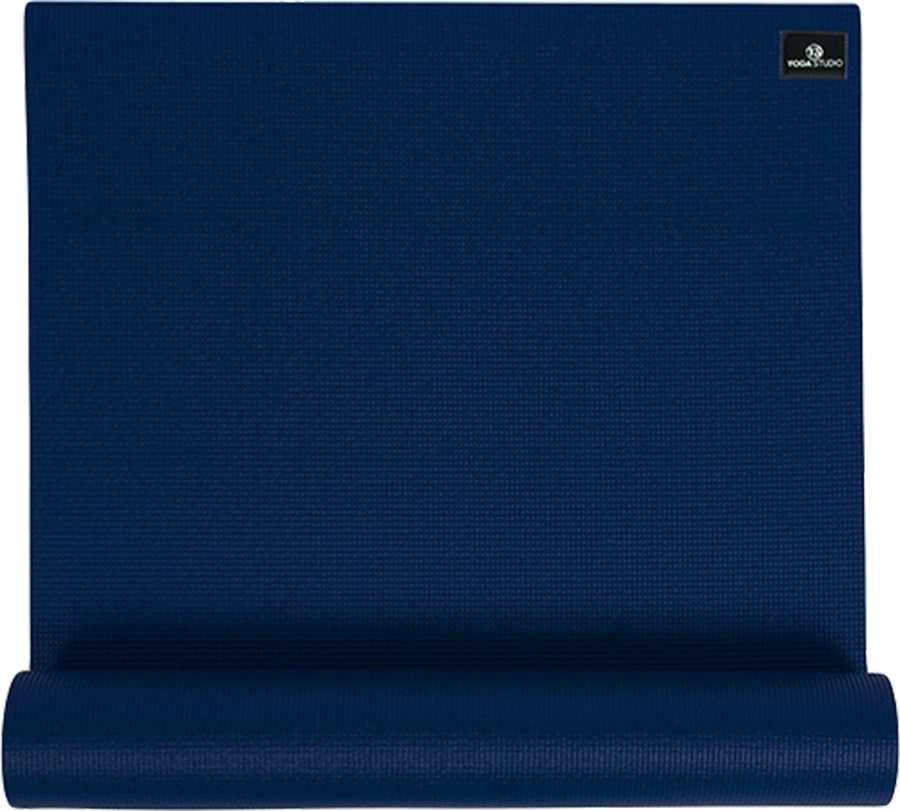 Yoga Studio Sticky Yoga/Pilates Non-Slip PVC Mat, 6mm Navy Blue