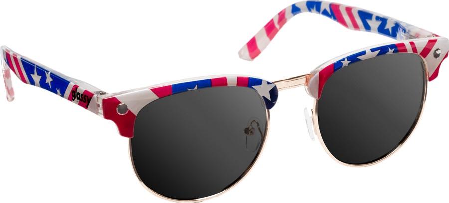 Glassy Sunhaters Morrison Sunglasses Flag Grey Lens