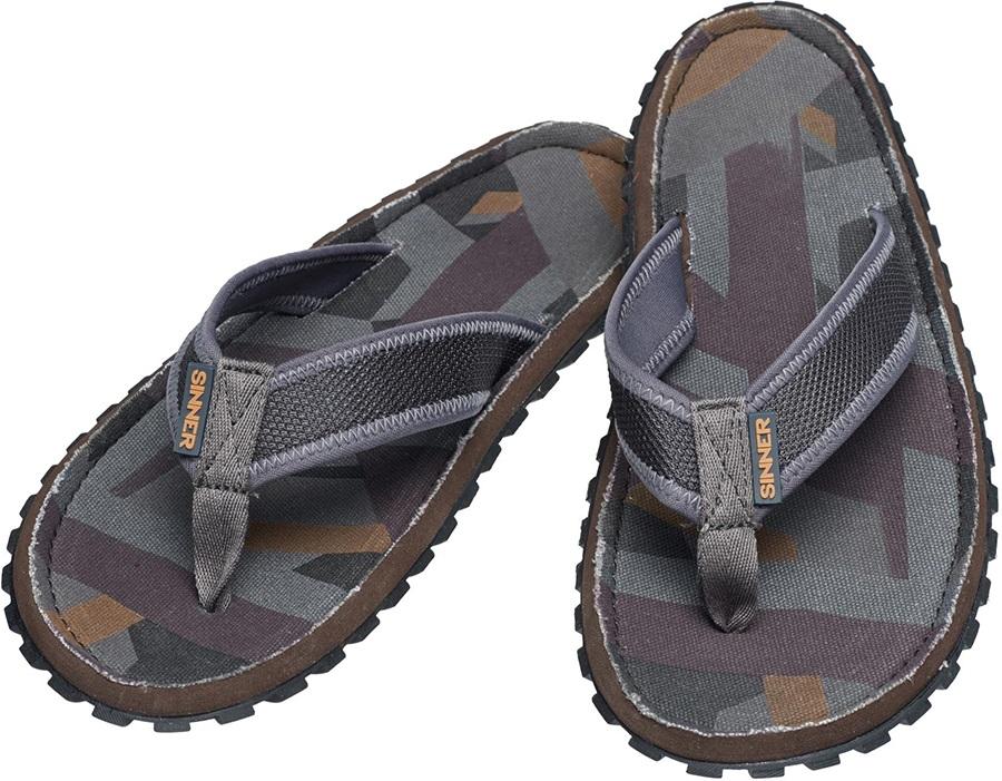 Sinner Beach Slaps IIII Men's Flip Flops, UK 12 / EU 46 Grey/Brown