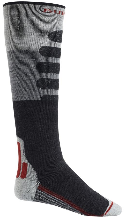 Burton Performance+ Midweight Merino Ski/Snowboard Socks, L Grey