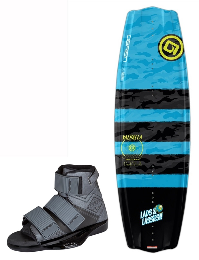 O'Brien Valhalla DOC|Connect Wakeboard Package, 138|10-13 Grey
