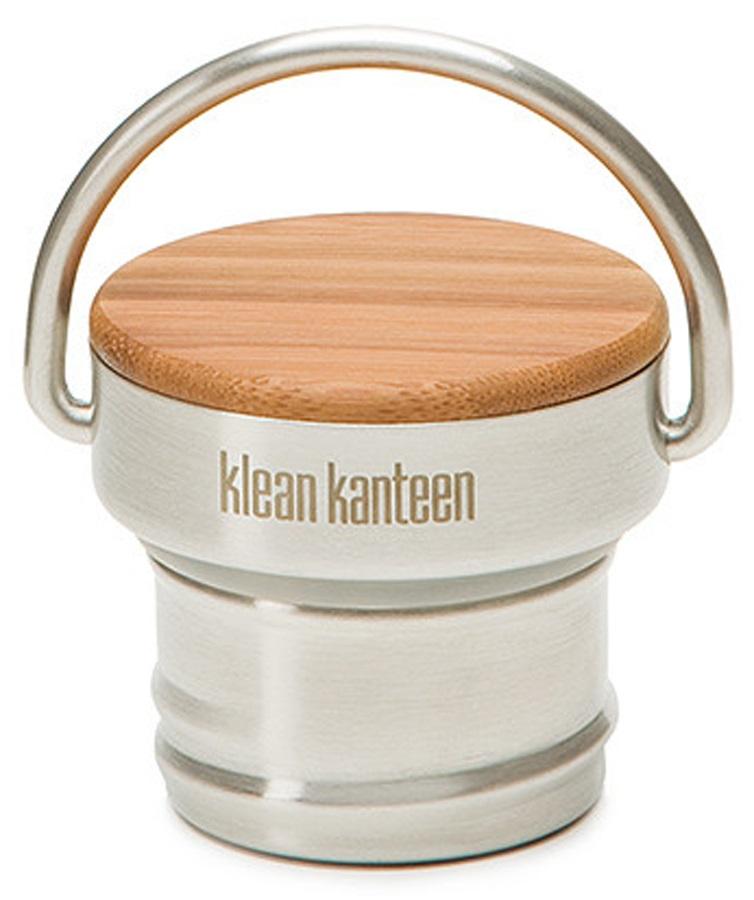Klean Kanteen Bamboo Cap Spare Water Bottle Cap/lid, Steel/Bamboo
