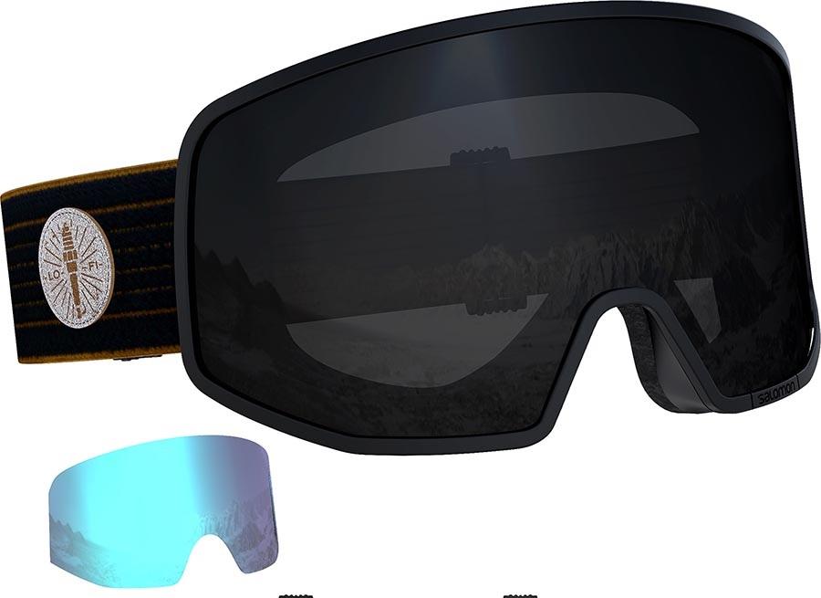 Salomon Lo Fi Black Snowboard/Ski Goggles, M/L Cafe Racer
