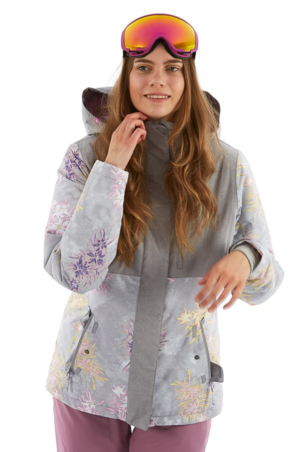 Roxy Jetty Block Women's Snowboard/Ski Jacket M Botanical Flowers