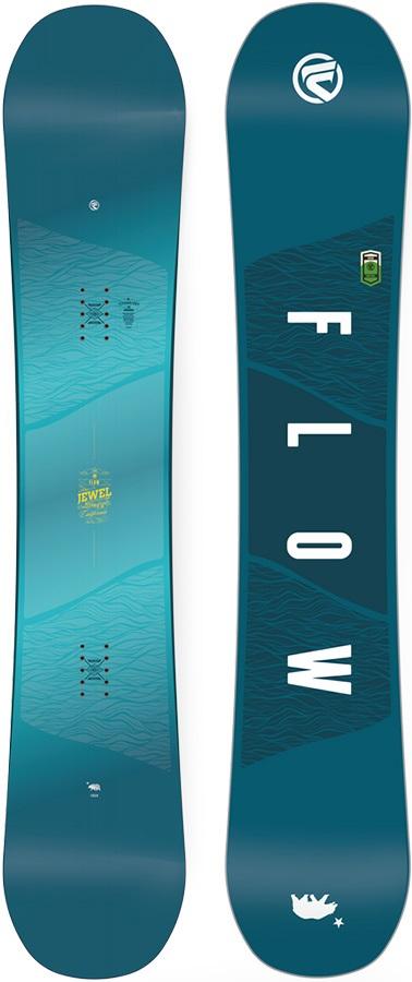 Flow Jewel Women's Hybrid Camber Snowboard, 143cm 2018