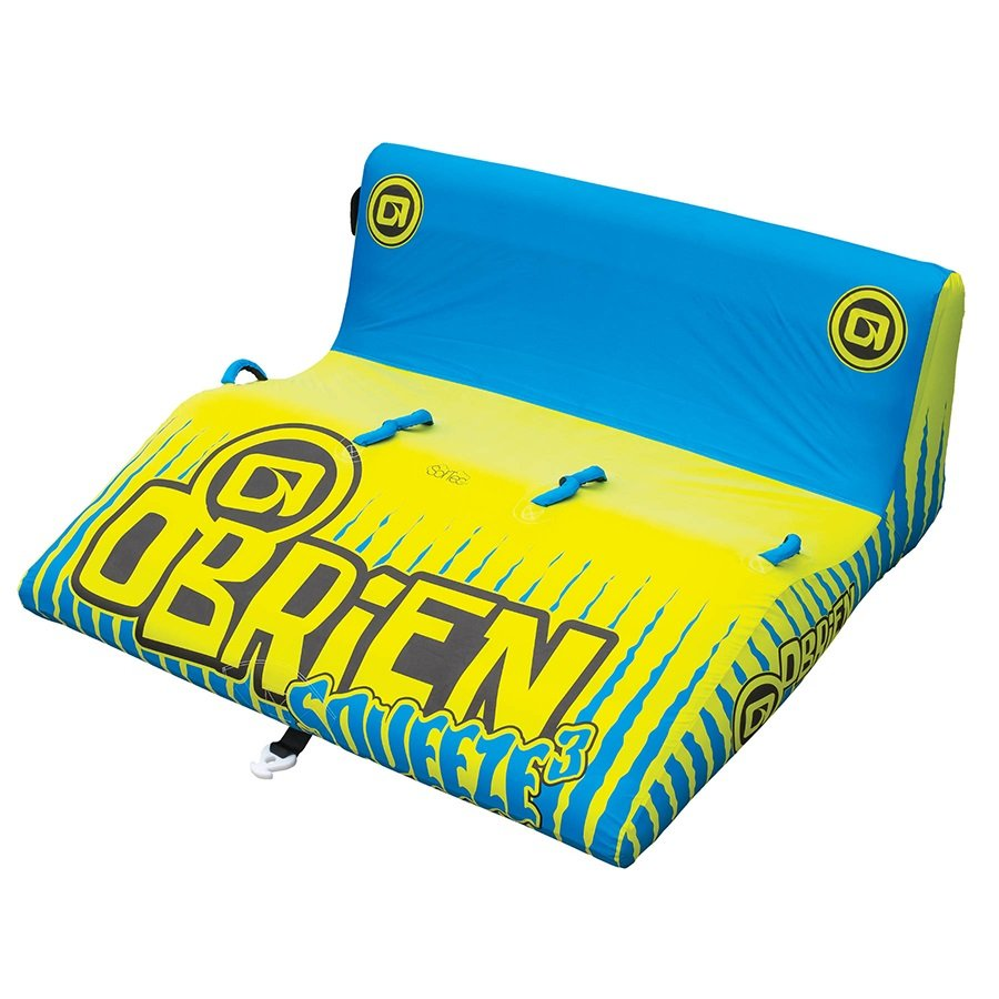 O'Brien Squeeze Wedge Towable Inflatable Tube, 3 Rider Blue 2020
