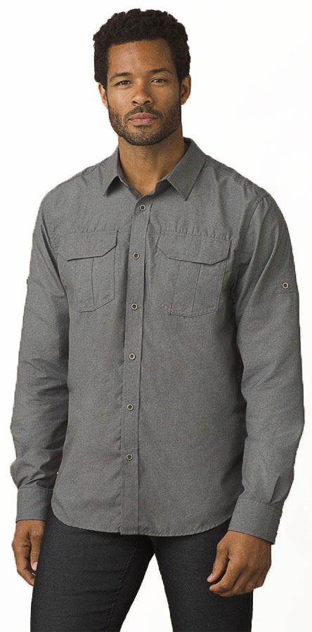 Prana Citadel Long Sleeve Shirt - L, Gravel