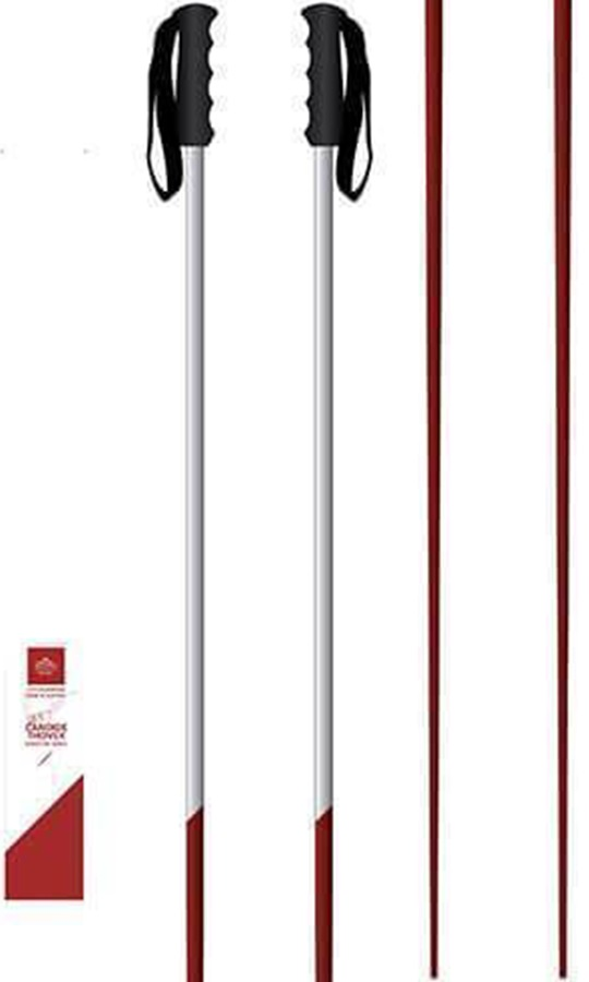 Faction Candide Thovex Pair Of Ski Poles, 115cm Red/White