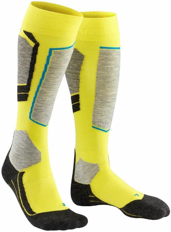 Falke Adult Unisex Sk4 Merino Wool Ski Socks, Uk 8-9 Lime Punch
