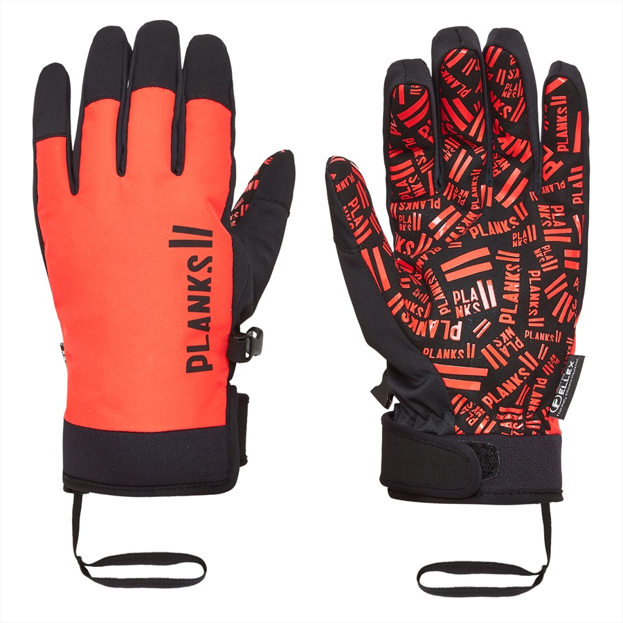 Planks High Times Ski/Snowboard Pipe Gloves, M Hot Red