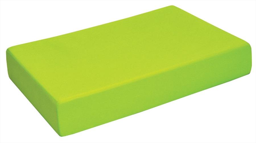 Yoga Mad Full Yoga/Pilates Block, 30.5cm X 20.5cm X 5cm Lime Green