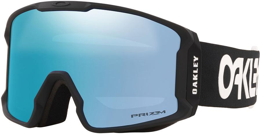 Oakley Line Miner L Prizm Sapphire Snowboard/Ski Goggles, L FP Black