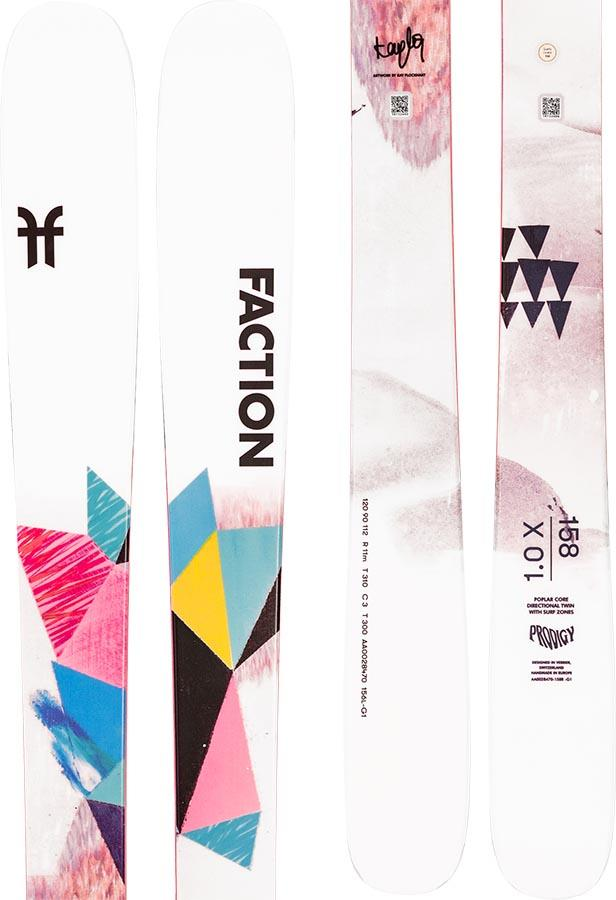 Faction Prodigy 1.0 X Ski Only Women's Skis, 158cm White/Pink 2021