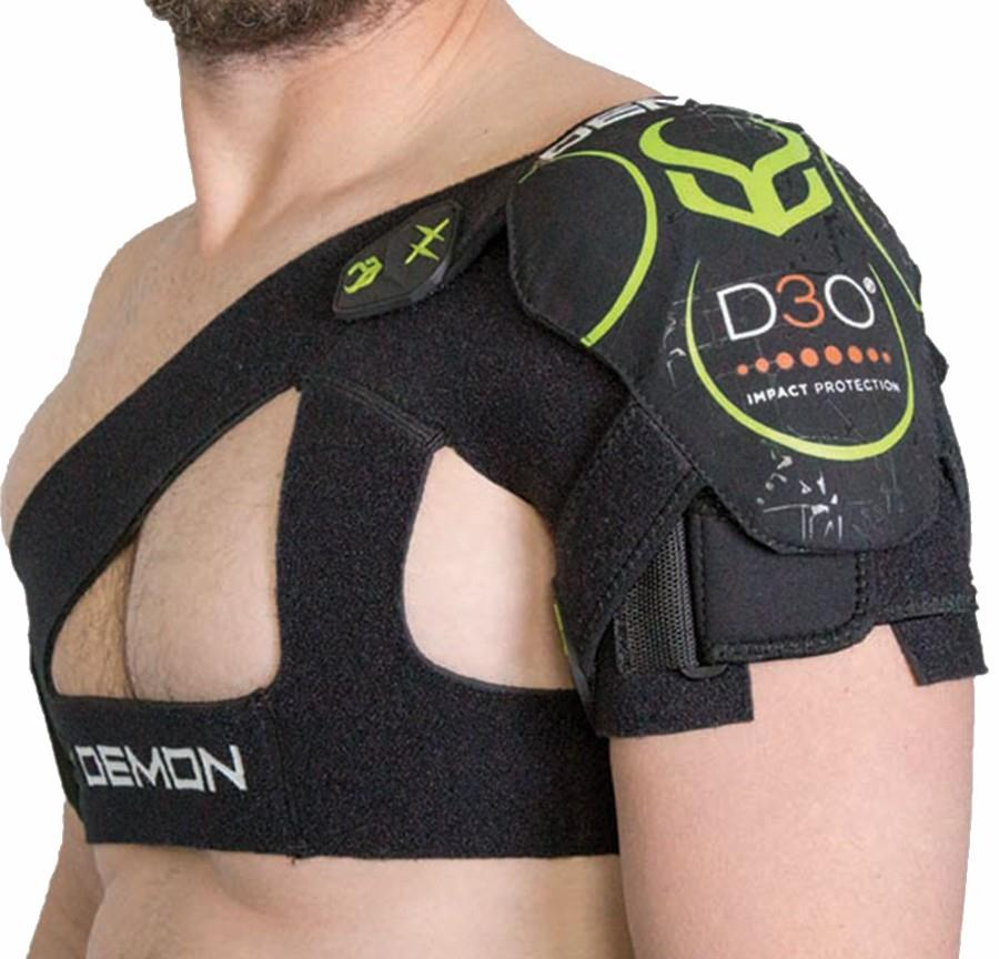 Demon XD3O Shoulder Brace Ski/Snowboard Impact Support, L/XL Black