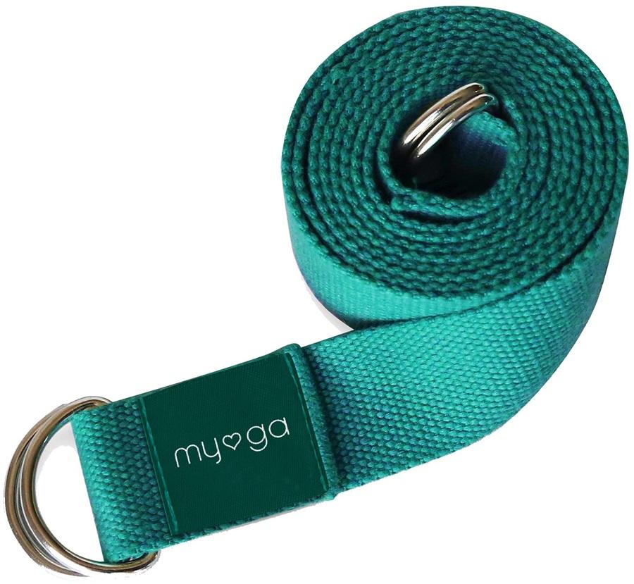 Myga Back To Basics 2-in-1 Yoga/Pilates Belt & Sling, Turquoise