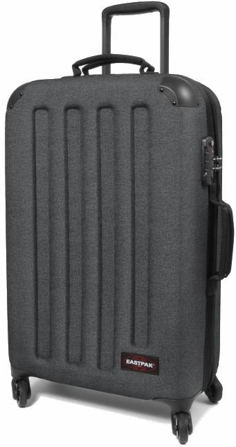Eastpak Tranzshell M Wheeled Bag/Suitcase, 56L Black Denim, Used